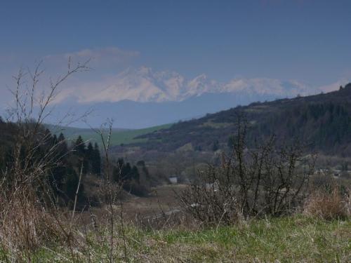 Ein letzter Blick zurueck auf die Hohe Tatra